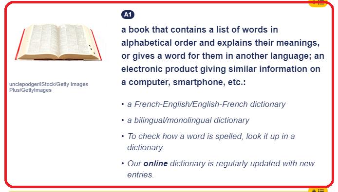 بخش تعریف کلمه و مثال